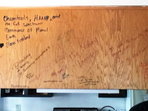 After Kitchen Cabinet Writing Closeup